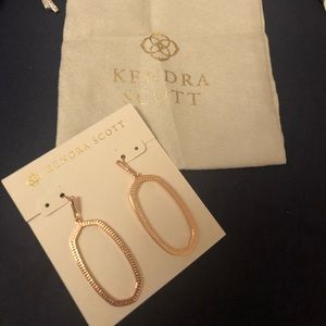 New Kendra Scott Elle Open Frame Drop Earrings